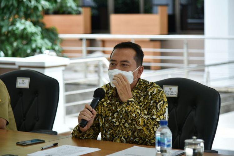 Ketua Komisi X Dewan Perwakilan Rakyat (DPR) Syaiful Huda saat memimpin tim kunjungan kerja spesifik Komisi X DPR RI ke Bekasi, Jawa Barat, Senin (15/3/2021).