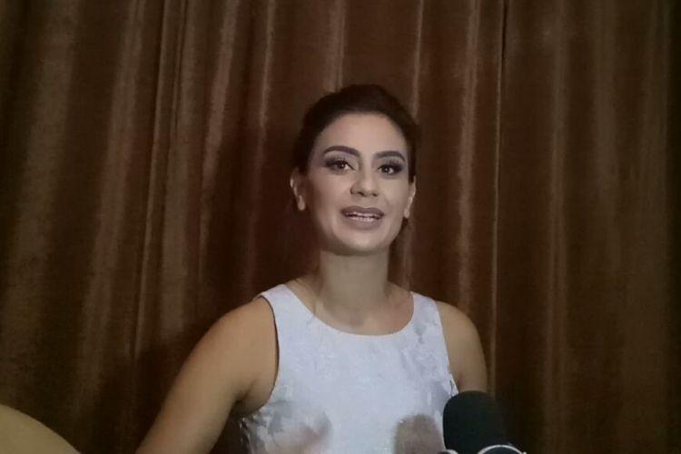 Marissa Nasution saat diwawancarai di Hotel Ritz Carlton, SCBD, Jakarta Selatan, Jumat (8/12/2017).