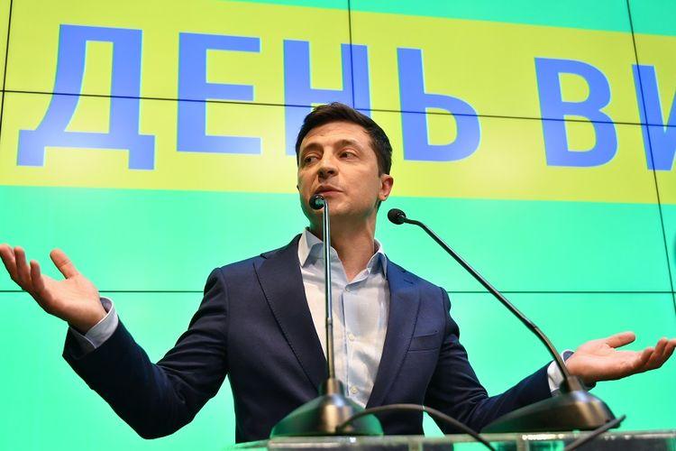 Presiden terpilih Ukraina, Volodymyr Zelensky.
