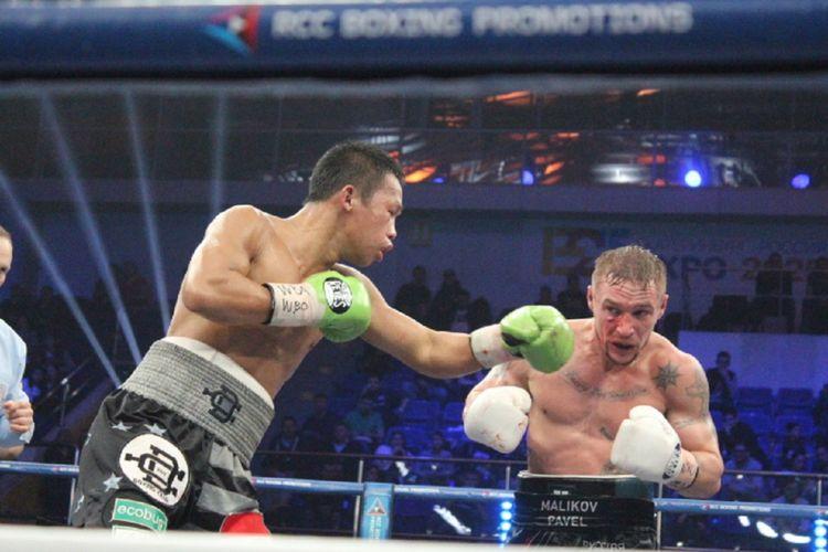 Petinju Daud Yordan menang KO di ronde delapan atas petinju Rusia, Pavel Malikov.