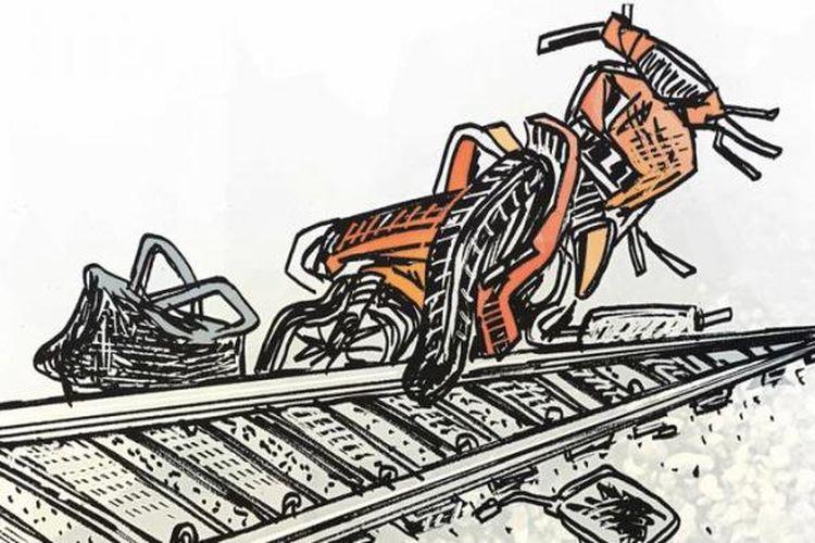 Ilustrasi: Kecelakaan di Pelintasan Kereta