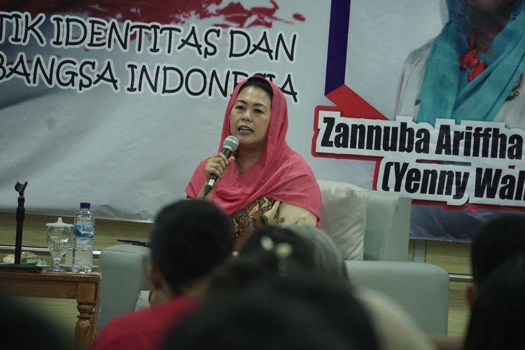 Yenny Wahid kecewa tak ada perempuan di jajaran pimpinan DPD