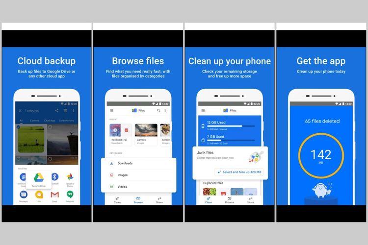 Cara menghapus file yang tersisa setelah uninstall aplikasi di Android melalui aplikasi Files by Google