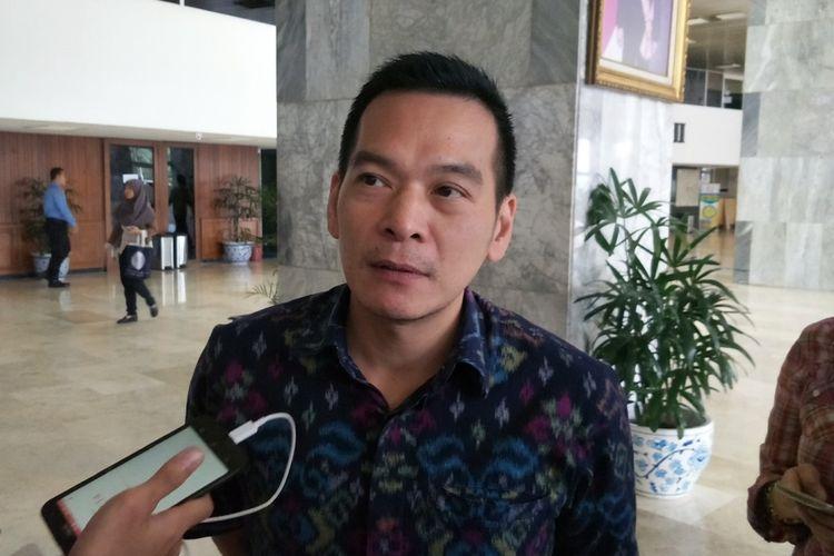 Wakil Sekretaris Jenderal Partai Kebangkitan Bangsa (PKB) Daniel Johan di Kompleks Parlemen, Senayan, Jakarta, Selasa (27/2/2018).