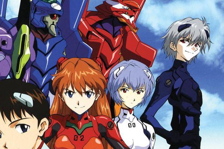 Anime keluaran 1995 berjudul Neon Genesis Evangelion.