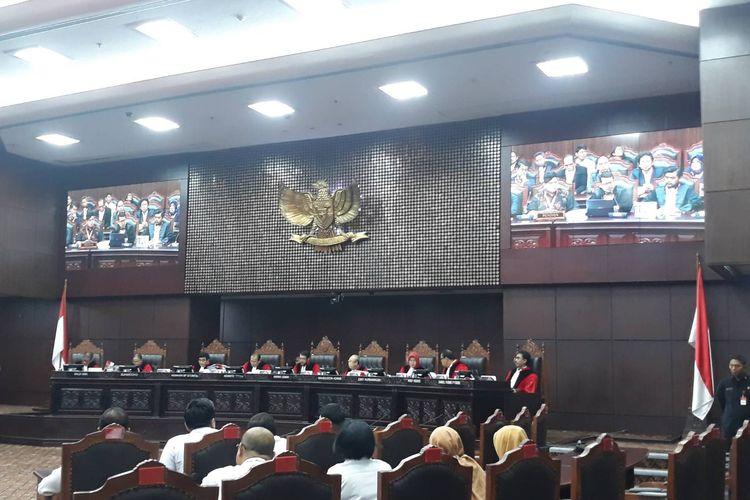 Sidang pengujian Undang-undang Nomor 19 Tahun 2019 tentang KPK di Mahkamah Konstitusi (MK), Jakarta Pusat, Rabu (12/2/2020).