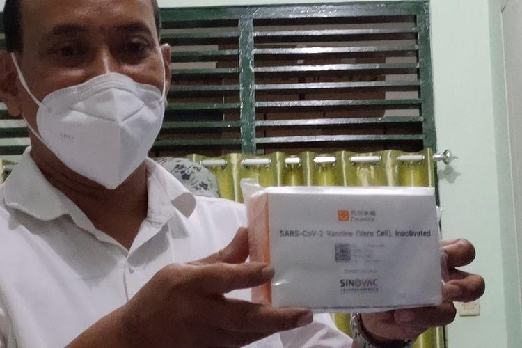 Vaksin Sinovac 5.480 dosis tiba di Kulon Progo, Daerah Istimewa Yogyakarta. Vaksin ini diprioritaskan pada nakes di awal.