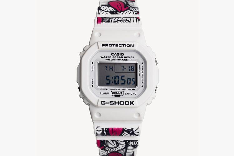 INSA berkreasi pada G-Shock DW 5600 berwarna putih