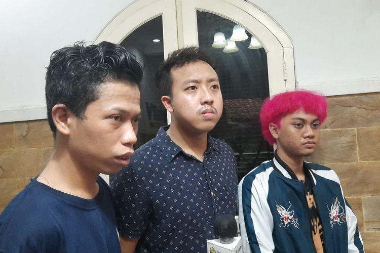 Dimas, Alfin, dan Asep saat ditemui di kawasan Sawangan, Depok, Jawa Barat.