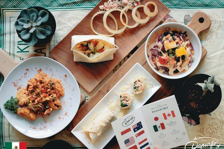 Pilihan menu makanan sehat dari berbagai negara.
