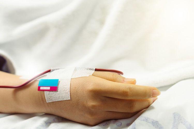 Ilustrasi pasien sedang menjalani kemoterapi.