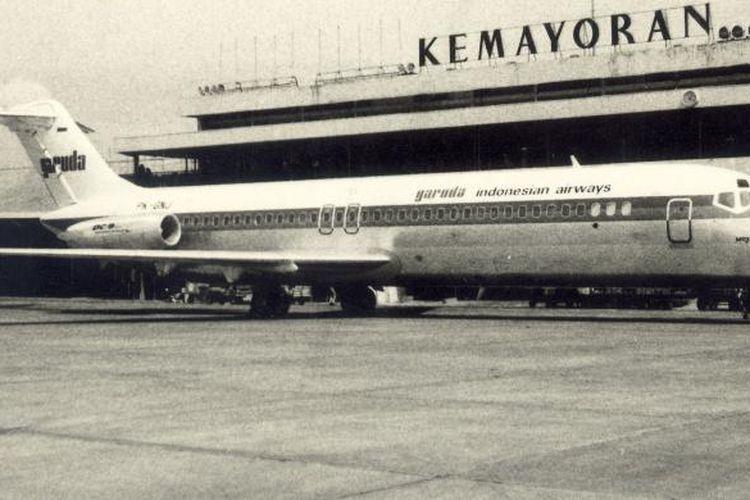 Pesawat Garuda PK-BNJ Woyla yang dibajak.