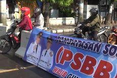 Hari Kedua PSBB di Kota Tegal, Warga Terobos Beton Blokade Jalan