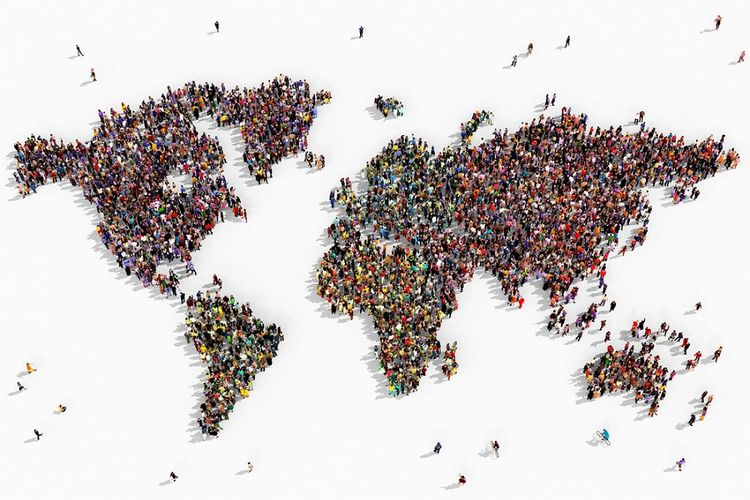 Ilustrasi populasi dunia.