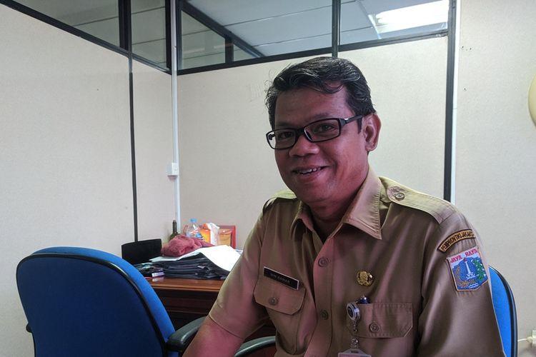 Kepala Bagian Umum dan Protokol Sekretariat Kota Administrasi Jakarta Utara Win Bawar, Senin (21/10/2019).