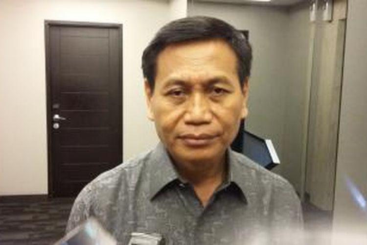 Direktur Jenderal Hak Asasi Manusia Kementerian Hukum dan HAM, Mualimin Abdi, saat ditemui seusai menjadi narasumber dalam diskusi publik di Menteng, Jakarta Pusat, Jumat (21/8/2015).
