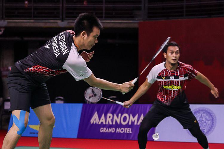 Mohammad Ahsan/Hendra Setiawan dikalahkan Choi Solgyu/Seo Seung Jae pada babak 8 besar Thailand Open 2021.