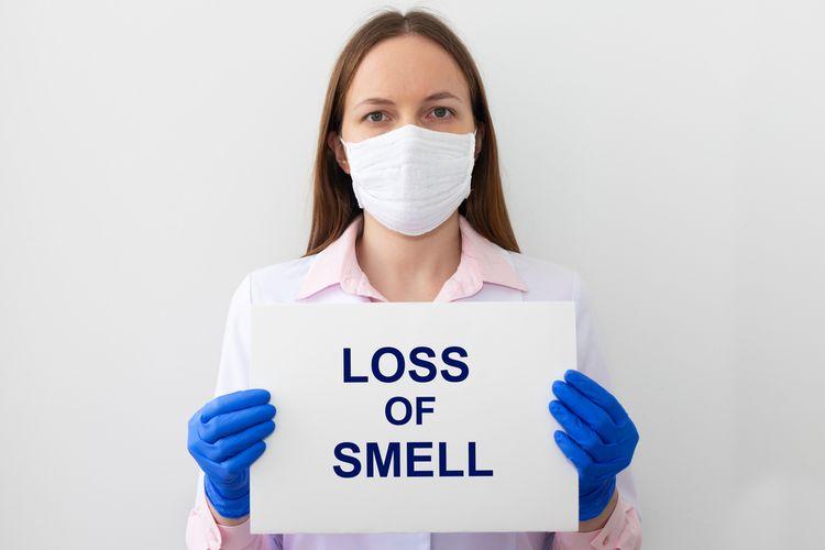 Ilustrasi anosmia, kehilangan penciuman