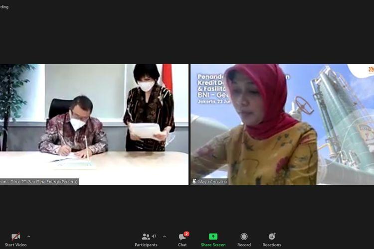 Penandatangan kerja sama PT Bank Negara Indonesia (Persero) dengan PT Geo Dipa Energi