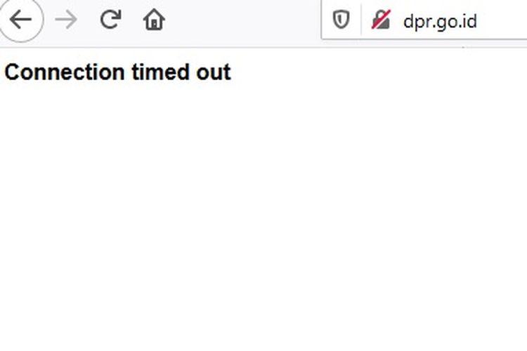 Protes RUU HIP, hacker bikin situs resmi DPR RI tak bisa diakses.