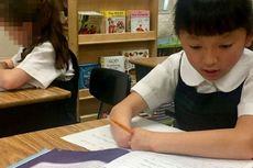 Meski Tak Punya Jari, Gadis Cilik Ini Menang Kompetisi Menulis di AS