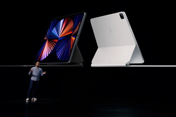 Product Manager Apple, Raja Bose dalam acara peluncuran bertajuk Spring Loaded yang digelar secara online, Selasa (20/4/2021)