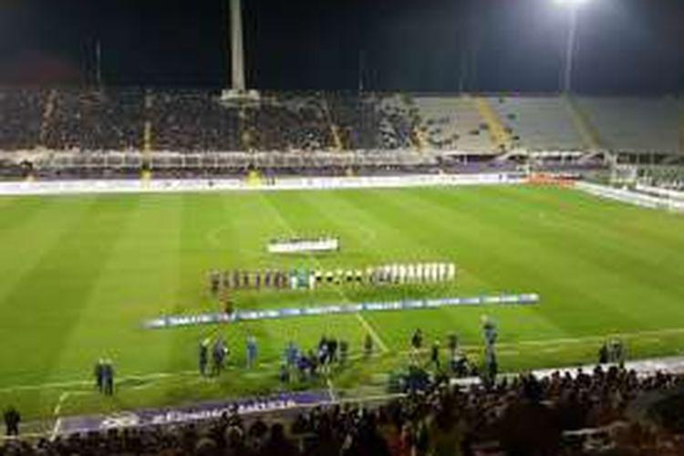 Suasana Stadion Artemio Franchi jelang pertandingan Serie A antara Fiorentina dan Palermo, Minggu (4/12/2016).