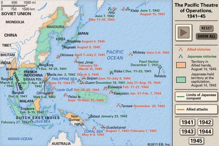 Medan Perang Pasifik atau Perang Asia Timur Raya