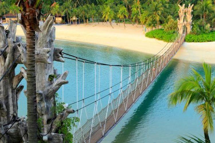 Pulau Sentosa di Singapura.