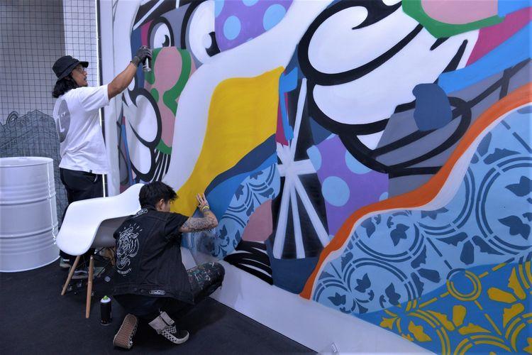 Live mural di Culture Cartel, USS 2019