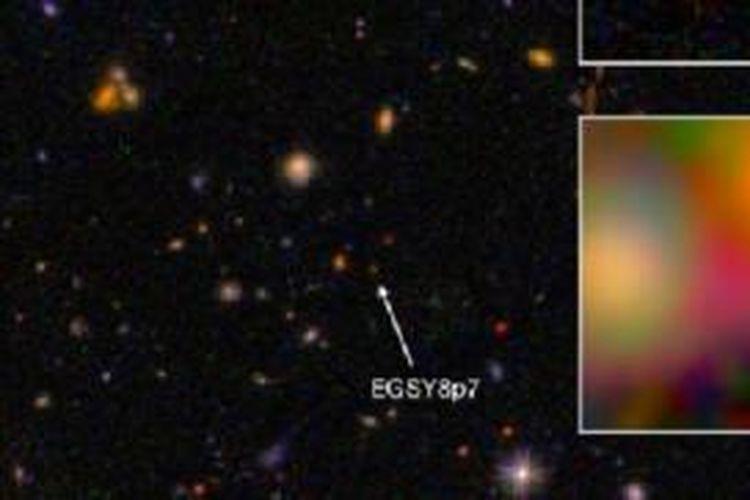 Galaksi Terjauh dan Tertua EGS8p7