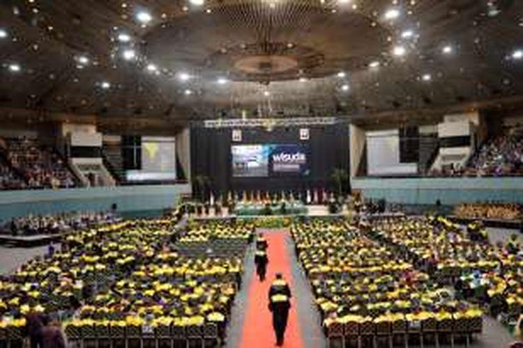 Suasana wisuda Universitas Nasional tahun akademik 2015/2016 di JCC, Sabtu (26/3/2016) kemarin.