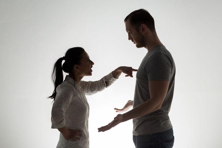 Ilustrasi istri marah kepada suami