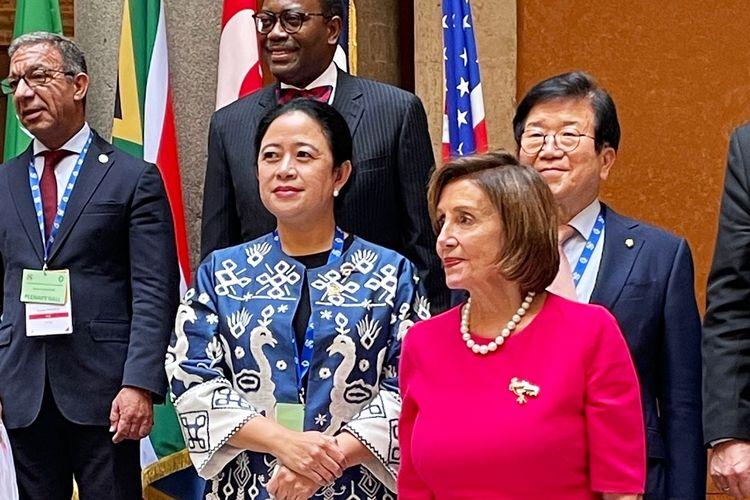 Ketua Dewan Perwakilan Rakyat (DPR) Republik Indonesia (RI) Puan Maharani dalam acara Seventh Group of 20 Parliamentary Speakers? Summit (P20) di Roma, Italia.