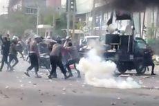 Demo Rusuh di Kendari Rusak Fasilitas Publik, Dua Polisi Terluka, 5 Orang Diamankan