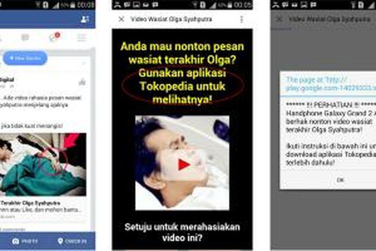 Iklan Tokopedia yang mencatut nama mendiang Olga Syahputra
