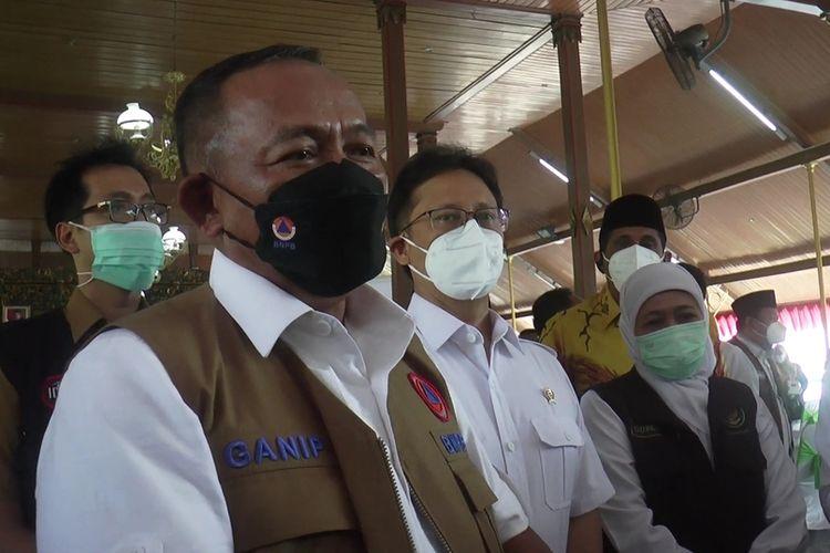 Ganip Warsito ketua Satgas penanganan Covid-19 saat mengunjungi Bangkalan, Selasa (8/6/2021).