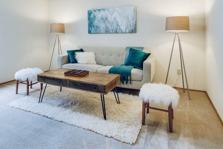 Ilustrasi ruang kecil atau ruang tamu kecil