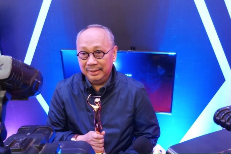 Penyanyi sekaligus pencipta lagu legendaris, Ebiet G Ade saat ditemui di sela-sela acara AMI Awards, MNC Studios, Kebon Jeruk, Jakarta Barat, Kamis (28/11/2019) dini hari.