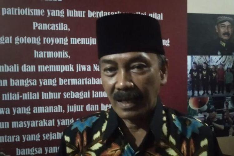 Calon Wali Kota Solo nomor urut 02 Bagyo Wahyono di Solo, Jawa Tengah, Rabu (9/12/2020) malam.