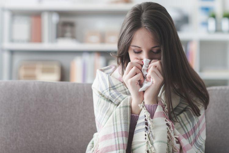 Ilustrasi sakit flu