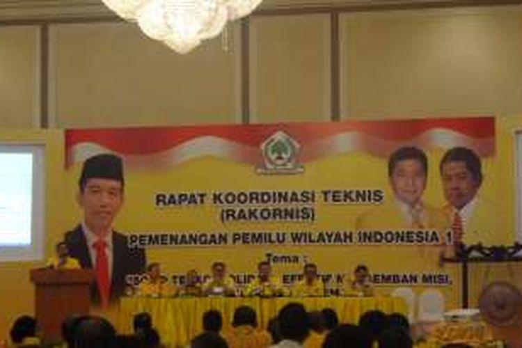 Suasana Rapat Koordinasi Teknis Partai Golkar di Hotel Menara Peninsula, Slipi, Jakarta Barat, Sabtu (3/9/2016)