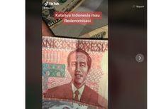 Video Viral Uang Redenominasi Bergambar Presiden Jokowi, Ini Kata BI