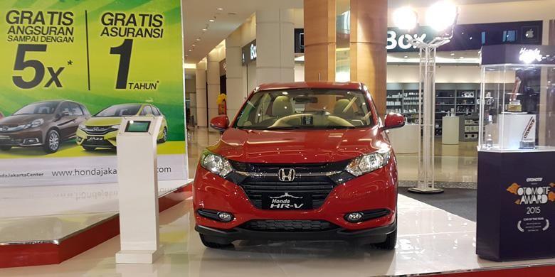 Pameran mobil Honda dengan banyak program promosi untuk mudik lebaran oleh Honda Jakarta Center.