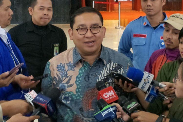 Wakil Ketua Umum Partai Gerinda Fadli Zon saat ditemui di Kompleks Parlemen, Senayan, Jakarta, Senin (23/4/2018).