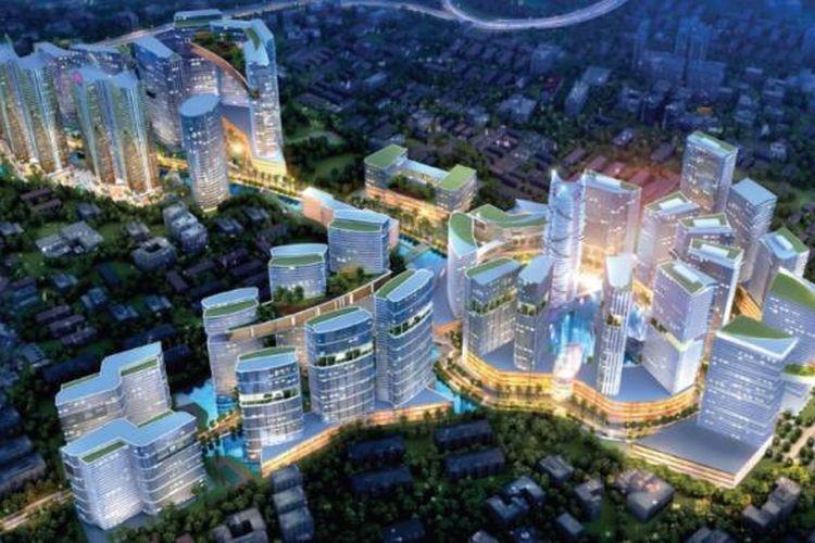 Proyek Grand Kamala Lagoon di lahan terbesar milik PT PP Properti Tbk seluas 25 hektar di Bekasi.