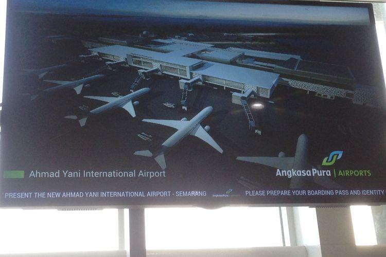 Terminal baru Bandara Internasional Ahmad Yani Semarang. Foto diambil Selasa (29/5/2018) sore.