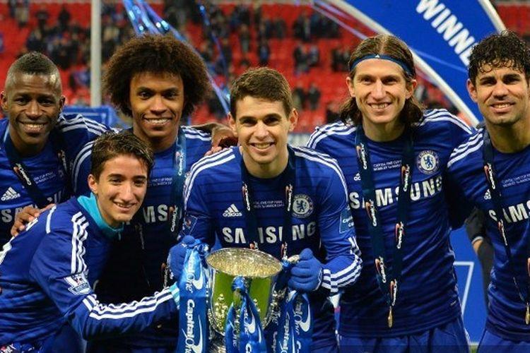 Ramires, Willian, Oscar, Filipe Luis, dan Diego Costa kala masih membela Chelsea.