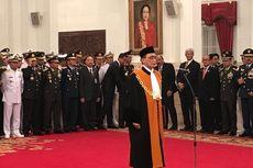 Ucap Sumpah Jabatan di Depan Jokowi, Sunarto Resmi Jabat Hakim MA Bidang Non-Yudisial