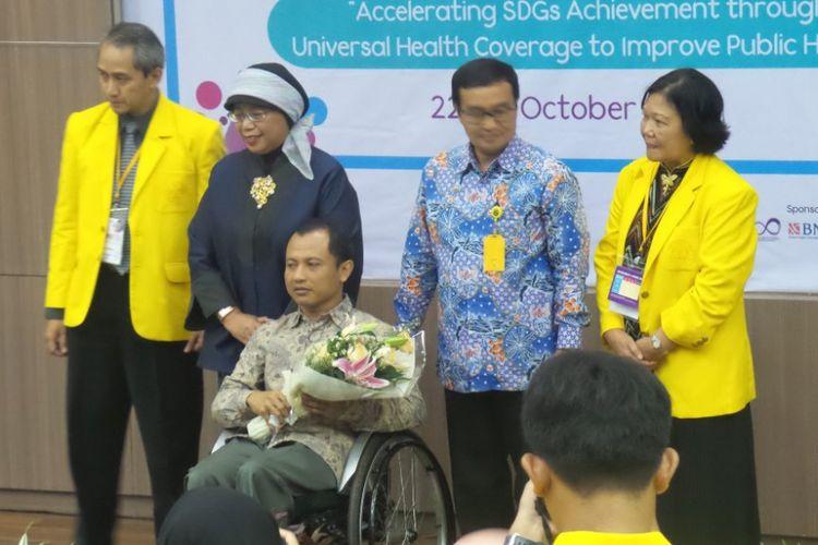 Fakultas Kesehatan Masyarakat (FKM) bekerja sama dengan Direktorat Kemahasiswaan Universitas Indonesia (UI) melaksanakan peluncuran Unit Pelayanan Disabilitias Universitas Indonesia, Senin (22/10/2018).